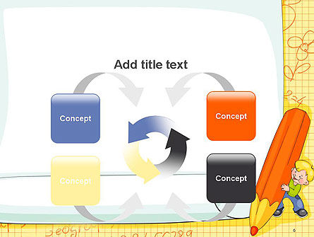 School Kids Frame PowerPoint Template Slide 6