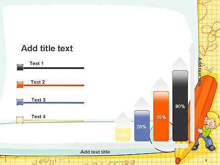 School Kids Frame PowerPoint Template Slide 8