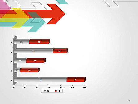 Colorful Arrows Pointing into Opposite Directions PowerPoint Template Slide 11
