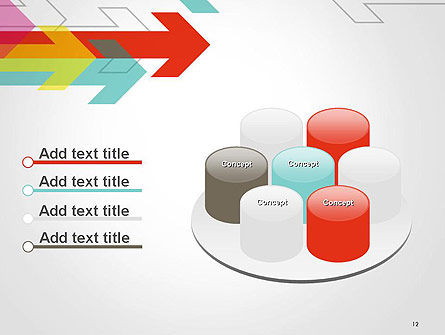 Colorful Arrows Pointing into Opposite Directions PowerPoint Template Slide 12