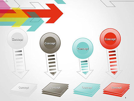 Colorful Arrows Pointing into Opposite Directions PowerPoint Template Slide 8