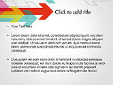 Colorful Arrows Pointing into Opposite Directions PowerPoint Template#2