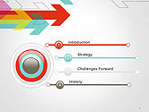 Colorful Arrows Pointing into Opposite Directions PowerPoint Template#3
