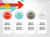 Colorful Arrows Pointing into Opposite Directions PowerPoint Template#5
