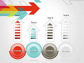 Colorful Arrows Pointing into Opposite Directions PowerPoint Template#7
