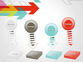 Colorful Arrows Pointing into Opposite Directions PowerPoint Template#8