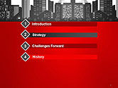 Modern City Silhouette PowerPoint Template#3