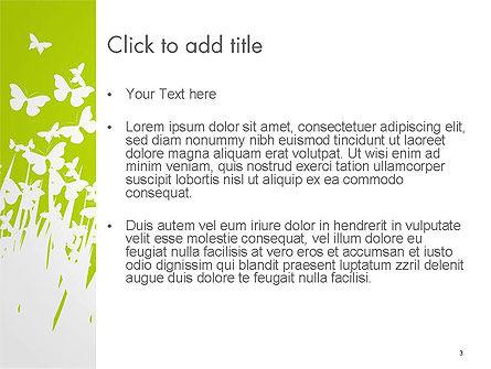 Green Spring Background PowerPoint Template, Slide 3, 14530, Nature & Environment — PoweredTemplate.com