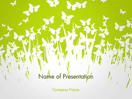 Green Spring Background Powerpoint Template Backgrounds