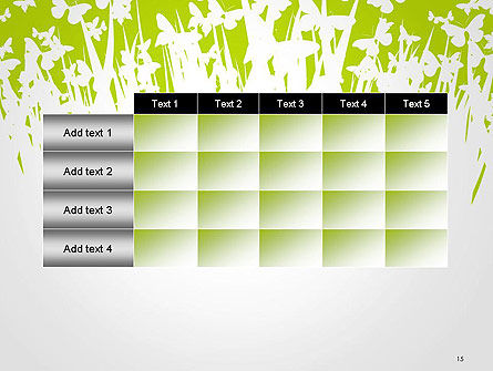 Green Spring Background PowerPoint Template Slide 15