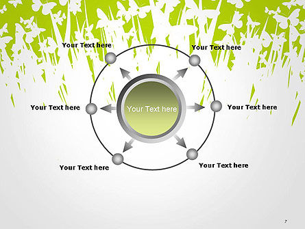 Green Spring Background PowerPoint Template Slide 7