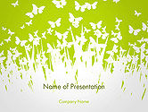 Nature & Environment: Green Spring Background PowerPoint Template #14530