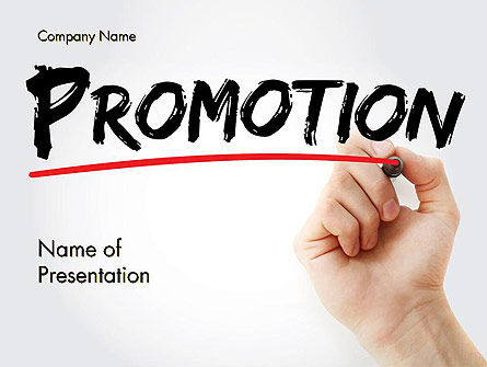 Business Concepts: Hand Writing Promotion with Marker PowerPoint Template #14531