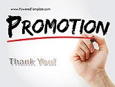 Hand Writing Promotion with Marker PowerPoint Template#20