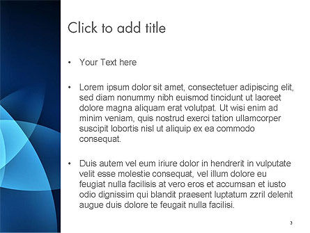 Abstract Blue Background with Smooth Lines PowerPoint Template, Slide 3, 14532, Abstract/Textures — PoweredTemplate.com