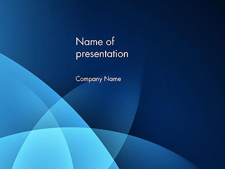 Abstract Blue Background with Smooth Lines PowerPoint Template