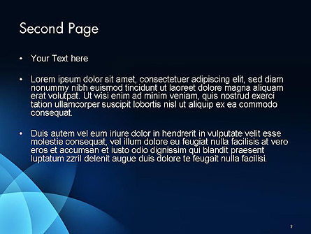 Abstract Blue Background with Smooth Lines PowerPoint Template, Slide 2, 14532, Abstract/Textures — PoweredTemplate.com