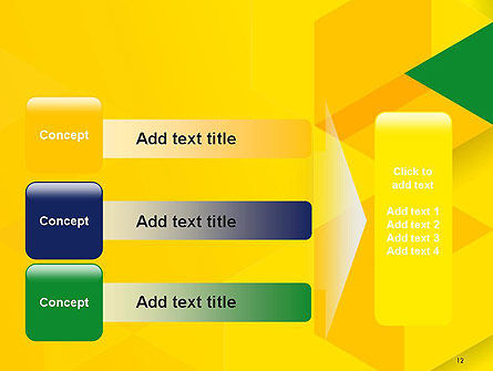 Abstract Hexagon Mosaic PowerPoint Template Slide 12