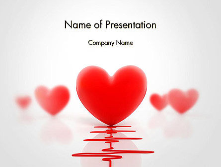 3D: Heart Monitoring Concept PowerPoint Template #14534