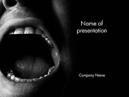 People: Male Screaming PowerPoint Template #14535