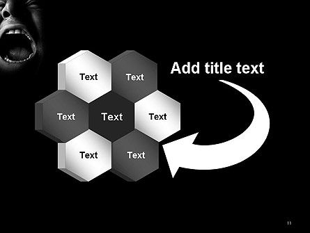 Male Screaming PowerPoint Template Slide 11