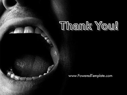 Male Screaming PowerPoint Template Slide 20