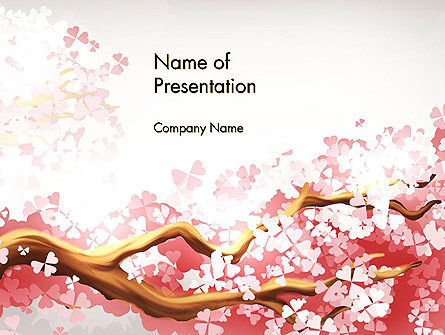 Nature & Environment: Cherry Blossom PowerPoint Template #14537