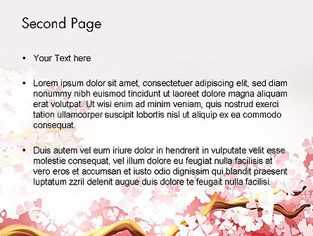 Cherry Blossom PowerPoint Template, Slide 2, 14537, Nature & Environment — PoweredTemplate.com