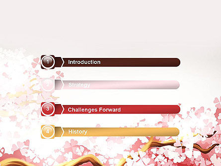 Cherry Blossom PowerPoint Template, Slide 3, 14537, Nature & Environment — PoweredTemplate.com