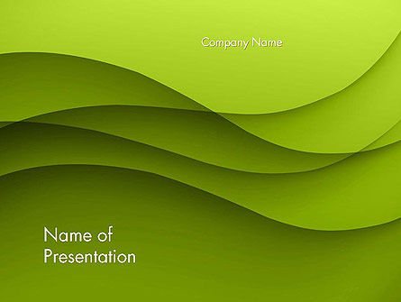 Abstract/Textures: Abstract Green Gradient Wave Background PowerPoint Template #14538