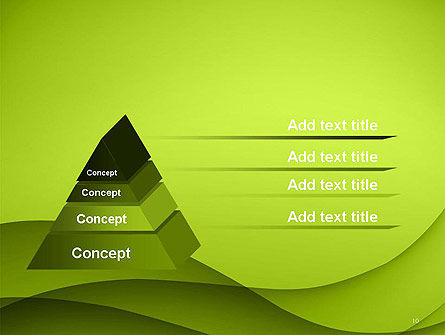 Abstract Green Gradient Wave Background PowerPoint Template Slide 10