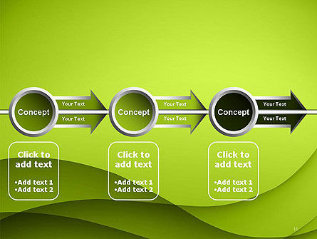 Abstract Green Gradient Wave Background PowerPoint Template Slide 11