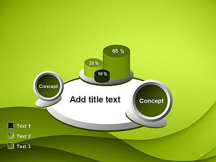Abstract Green Gradient Wave Background PowerPoint Template Slide 13