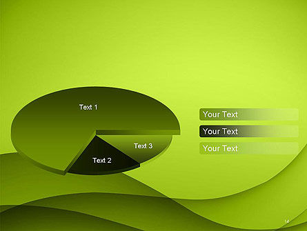 Abstract Green Gradient Wave Background PowerPoint Template Slide 14