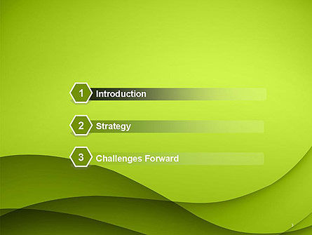 Abstract Green Gradient Wave Background PowerPoint Template, Slide 3, 14538, Abstract/Textures — PoweredTemplate.com