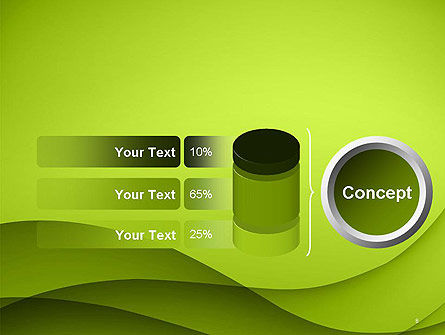 Abstract Green Gradient Wave Background PowerPoint Template Slide 8