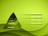 Abstract Green Gradient Wave Background PowerPoint Template#10
