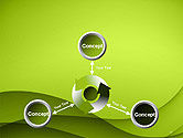 Abstract Green Gradient Wave Background PowerPoint Template#12
