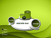 Abstract Green Gradient Wave Background PowerPoint Template#13