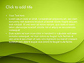 Abstract Green Gradient Wave Background PowerPoint Template#2