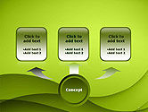 Abstract Green Gradient Wave Background PowerPoint Template#4