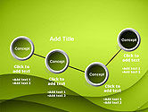 Abstract Green Gradient Wave Background PowerPoint Template#6