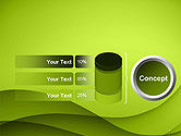 Abstract Green Gradient Wave Background PowerPoint Template#8