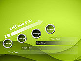 Abstract Green Gradient Wave Background PowerPoint Template#9