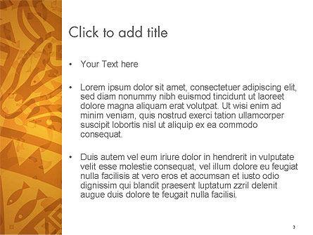 Brown Ethnic Ornament PowerPoint Template, Slide 3, 14540, Art & Entertainment — PoweredTemplate.com