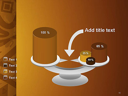 Brown Ethnic Ornament PowerPoint Template Slide 10