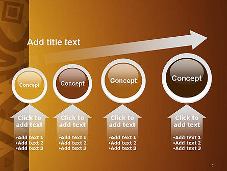 Brown Ethnic Ornament PowerPoint Template Slide 13