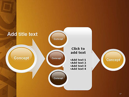 Brown Ethnic Ornament PowerPoint Template Slide 17