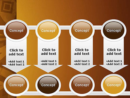 Brown Ethnic Ornament PowerPoint Template Slide 18