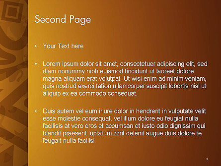 Brown Ethnic Ornament PowerPoint Template Slide 2